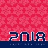Happy new year 2018. Universal Vector background with pattern. C Royalty Free Stock Photos