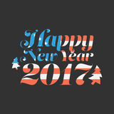 Happy New Year 2017. With USA flag background Royalty Free Stock Photography