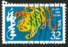 Happy New Year USA Postage Stamp Royalty Free Stock Photo