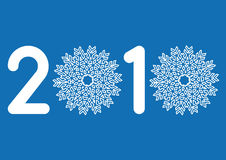 Happy new year, vector. 2010, happy new year with snowflakes Stock Photography