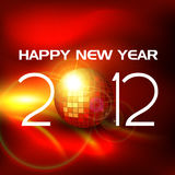 Happy new year vector. Stylish 2012 happy new year disco background Royalty Free Stock Images