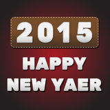 2015 happy new year. Vector stock illustration