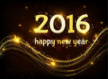 Happy new 2016 year. Stock Photos
