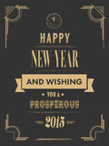 Happy new year vector in art deco style Stock Photo
