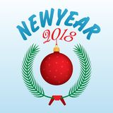 Vector 2018 Happy New Year background. Happy New Year 2018 Vector background Royalty Free Stock Images