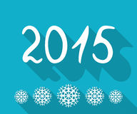 Happy New Year 2015. Vector background royalty free illustration