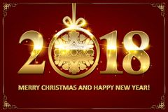 Happy New Year 2018. Royalty Free Stock Photography
