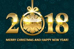 Happy New Year 2018. Royalty Free Stock Image