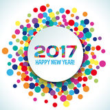 2017 Happy new year vector background. Bright decoration party holiday Royalty Free Stock Photos