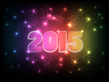 Happy New Year 2015_01. Vector background of Happy new year 2015 celebration EPS10 Royalty Free Stock Photography