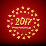 Happy new year 2017 vector background. Happy new year 2017. happy chinese new year 2017 on creative red background Royalty Free Stock Photo