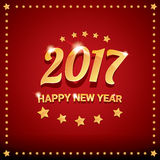 Happy new year 2017 vector background. Happy new year 2017. happy chinese new year 2017 on creative red background Stock Image