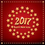 Happy new year 2017 vector background. Happy new year 2017. happy chinese new year 2017 on creative red background Stock Images