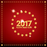 Happy new year 2017 vector background. Happy new year 2017. happy chinese new year 2017 on creative red background Royalty Free Stock Photography