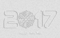 Happy New Year 2017. Vector background. Happy New Year 2017. Element for greeting cards, posters. calendar cover. Vector illustration Stock Illustration