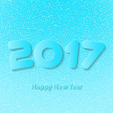 Happy New Year 2017. Vector background. Happy New Year 2017. Element for greeting cards, posters. calendar cover. Vector illustration Royalty Free Illustration