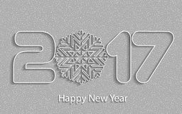 Happy New Year 2017. Vector background. Happy New Year 2017. Element for greeting cards, posters. calendar cover. Vector illustration Vector Illustration