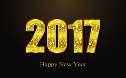 Happy New Year 2017. Vector background. Happy New Year 2017. Background with gold sparkling texture. Vector Illustration Royalty Free Stock Image