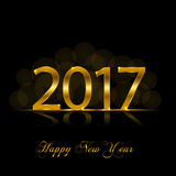 Happy New Year 2017. Vector background. Happy New Year 2017. Background with gold sparkling texture. Vector Illustration Stock Photo