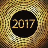Happy New Year 2017. Vector background. Happy New Year 2017. Background with gold sparkling texture. Vector Illustration Stock Image
