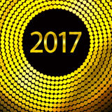 Happy New Year 2017. Vector background. Happy New Year 2017. Background with gold sparkling texture. Vector Illustration Royalty Free Stock Photo