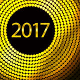 Happy New Year 2017. Vector background. Happy New Year 2017. Background with gold sparkling texture. Vector Illustration Royalty Free Stock Images