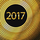 Happy New Year 2017. Vector background. Happy New Year 2017. Background with gold sparkling texture. Vector Illustration Royalty Free Stock Photography