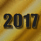 Happy New Year 2017. Vector background. Happy New Year 2017. Background with gold sparkling texture. Vector Illustration Stock Images