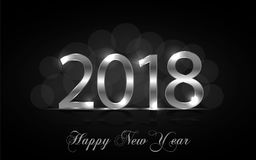 Happy New Year 2017. Vector background. Happy New Year 2018. Background with silver sparkling texture. Glitter Numbers 0, 1, 2, 8. Vector Illustration for Royalty Free Stock Image