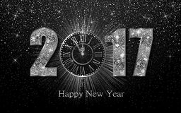 Happy New Year 2017. Vector background Royalty Free Stock Images