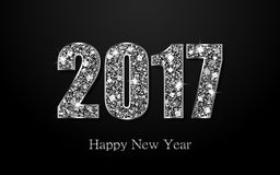 Happy New Year 2017. Vector background Stock Image
