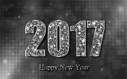 Happy New Year 2017. Vector background. Happy New Year 2017. Background with silver sparkling texture. Vector Illustration Stock Illustration