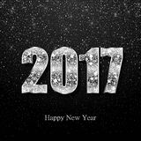 Happy New Year 2017. Vector background. Happy New Year 2017. Background with silver sparkling texture. Vector Illustration Royalty Free Stock Photo