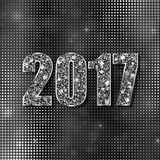 Happy New Year 2017. Vector background. Happy New Year 2017. Background with silver sparkling texture. Vector Illustration Royalty Free Stock Photos