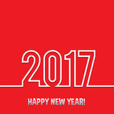 2017 Happy new year vector background. Xmas holiday design. Flat paper greeting annual report. Bright decorations Royalty Free Stock Image
