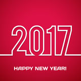 2017 Happy new year vector background. Xmas holiday design. Flat paper greeting annual report. Bright decorations Royalty Free Stock Photo