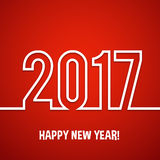 2017 Happy new year vector background. Xmas holiday design. Flat paper greeting annual report. Bright decorations Stock Photography