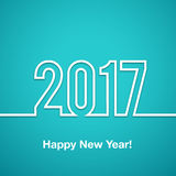 2017 Happy new year vector background. Xmas holiday design. Flat paper greeting annual report. Bright decorations royalty free illustration
