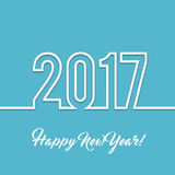 2017 Happy new year vector background. Xmas holiday design. Flat paper greeting annual report. Bright decorations vector illustration
