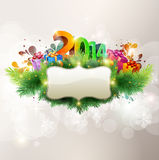 Happy new year 2014. Vector banner Stock Images