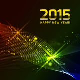 Happy 2015 new year. Vector on black background Royalty Free Stock Photo