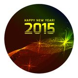 Happy 2015 new year. Vector on black background Stock Photography