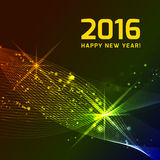 Happy 2016 new year. Vector on black background Royalty Free Stock Image