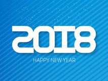 Happy New Year 2018. Vector brochure design template. Cover of b. Usiness diary for 2018. Vector greeting card with halftone gradient Royalty Free Stock Photo