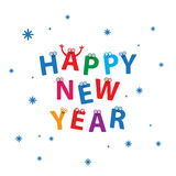 Happy New Year Vector Card Royalty Free Stock Images