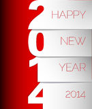 Happy New Year 2014 vector card. Happy New Year 2014 red and white vector card Royalty Free Stock Photo