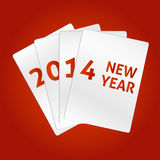 Happy New Year 2014. Vector cards Royalty Free Stock Photos