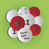 Happy New Year 2015. Vector circles background - Happy New Year 2015 Royalty Free Stock Photo