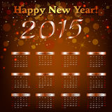 Happy New Year - 2015 Royalty Free Stock Photography