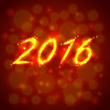 Happy new year 2016 vector concept. Happy new year 2016 luminous concept realistic vector royalty free illustration